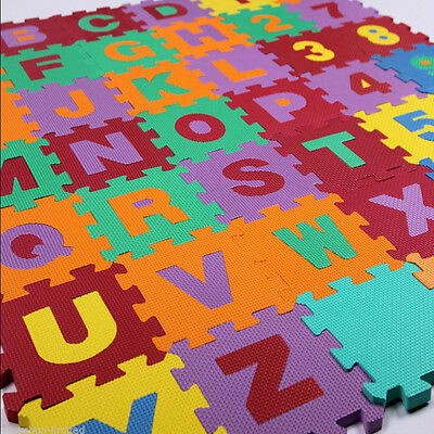 Baby Alphabet/Number Foam Exercise Floor Kids Puzzle Play Mat Flooring Tile Game