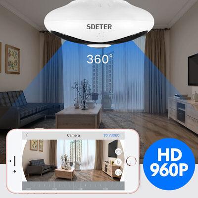 Mini 360 Degree Panoramic Wireless Wifi IP Fisheye Camera Two Way Audio 960P (Wireless Two Way Audio)