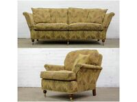 BESPOKE DURESTA RUSKIN 3 SEATER SOFA AND MATCHING ARMCHAIR SUITE - UK DELIVERY