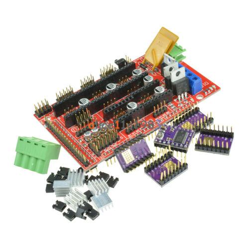RAMPS 1.4 Controller Board + 5PCS DRV8825 StepStick Driver Module For 3D Printer