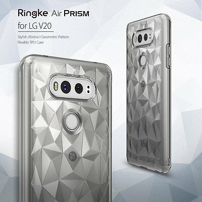 Ringke Air Prism Pattern Flexible TPU Slim Soft Clear View Cover For LG V20 Case