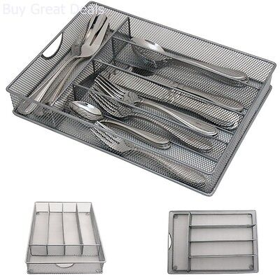 Flatware Storage Organizer Foam Steel Wire Mesh Cutlery Holder Silverware Tray