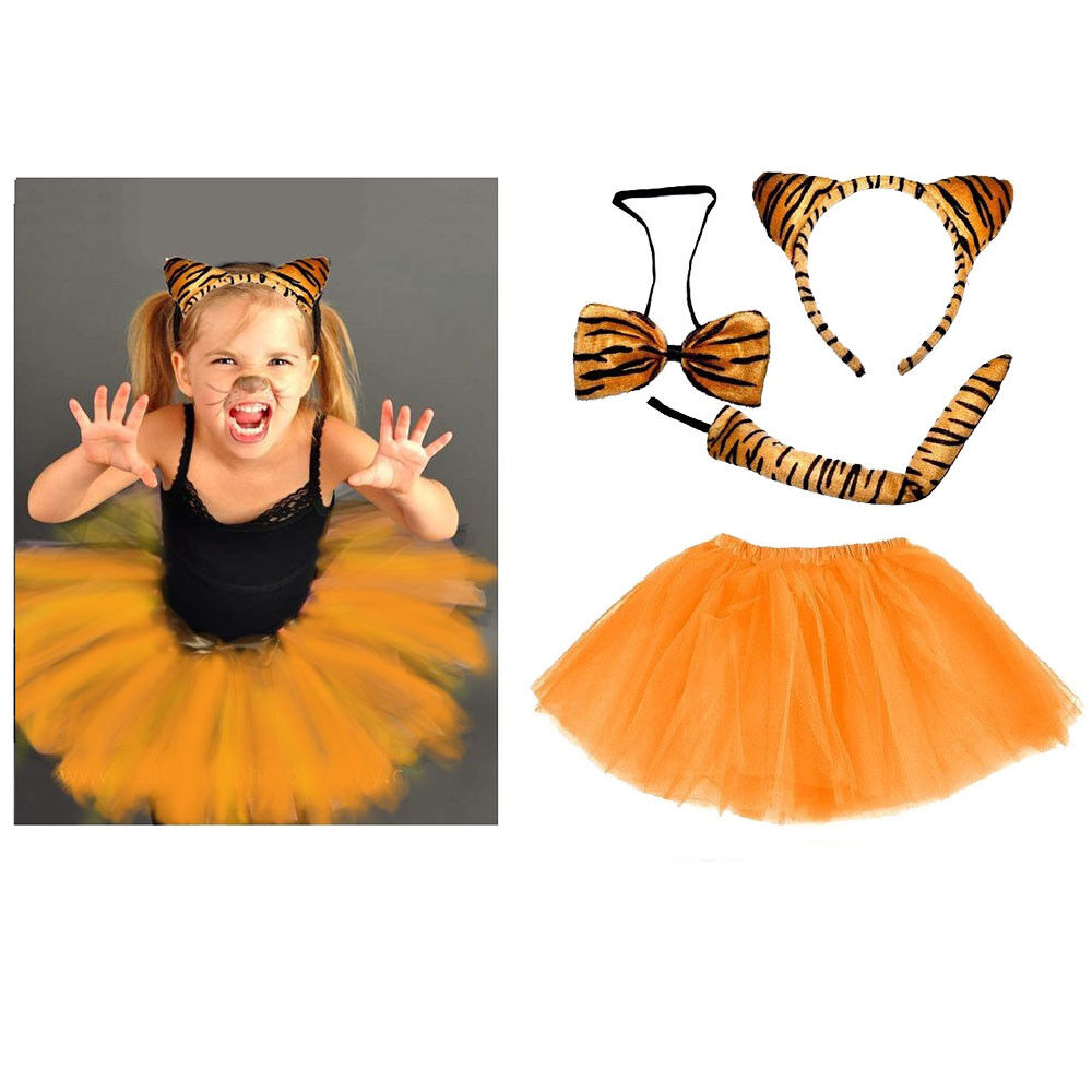 Tiger Kostüm Mädchen Damen Verkleiden Fasching Karneval Dress Up Halloween