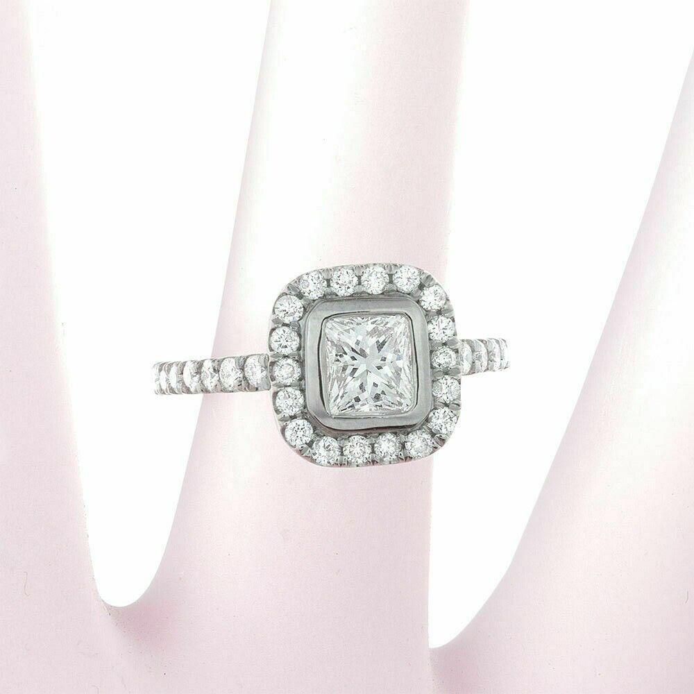 GIA Certified Diamond Engagement Ring 1.56 carat Cushion Cut 14k White Gold