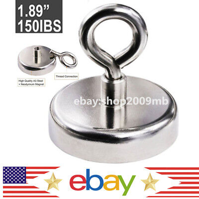 Fishing Magnet 150lbs Neodymium Super Strong Retrieving Treasure Hunt Pull Force
