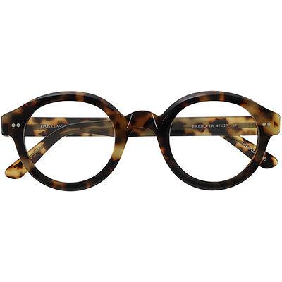 Brillen Eyewear round Epos Erebo TR amber  turtle 47 27 145 new +hoya lens clear