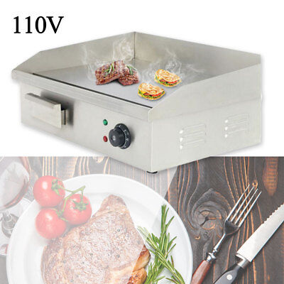Stainless Steel Electric Thermomate Griddle Grill Home Bbq Plate Commercial Tool