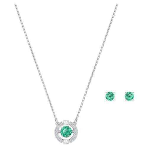Authentic Swarovski Sparkling Dance Green Crystal Set