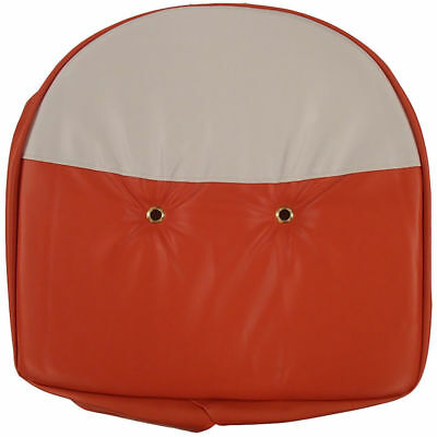 Universal Cushion Seat Cover Orange White For Mower Farm Tractor Allis-chalmers