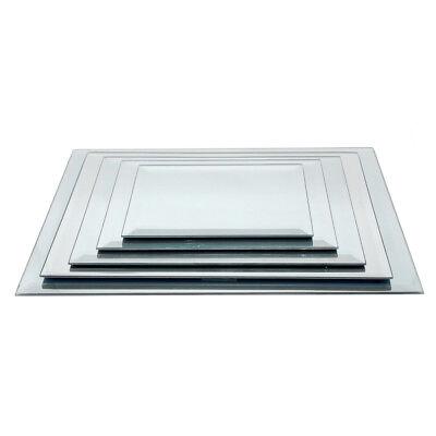 Centerpiece Base (Rectangular Beveled Edge Mirror Glass Base)