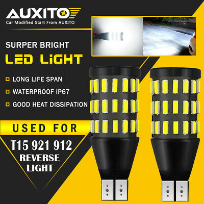 2X AUXITO Backup Reverse Lights 921 912 T15 LED 6000K White Bulb 2200LM 54H EOA