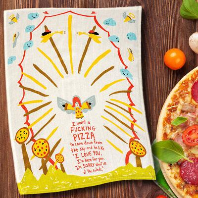 Blue Q 'I Want A F NG Pizza' Schale Handtuch Schale Tee Küche Neuheit Geschenk