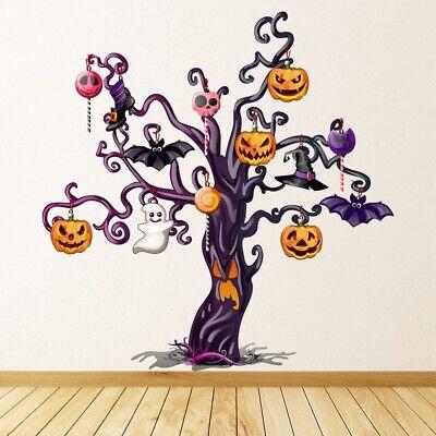 Kürbis-Baum Halloween Wandtattoo WS-50579
