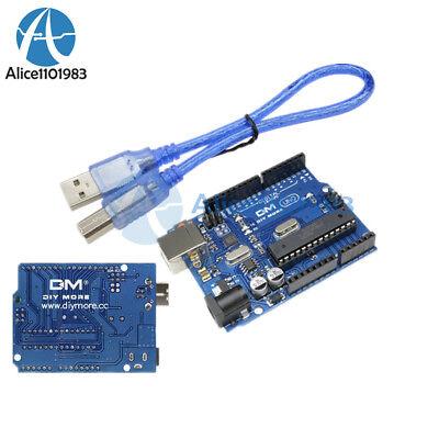 eBay - Compatible Arduino UNO R3 Board ATMEGA328P with USB Cable