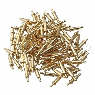 100x Gold-plated 8.5mm Length Copper Pcb Test Pin Pogo Pin Connector