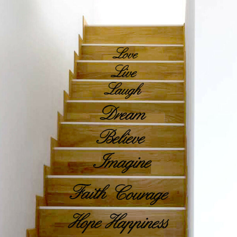 Live Laugh Love Decal Removable Wall Stickers Stair Decor US