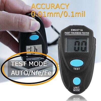 Digital Lcd Automobile Car Paint Coating Thickness Tester Measuring Gauge Meter