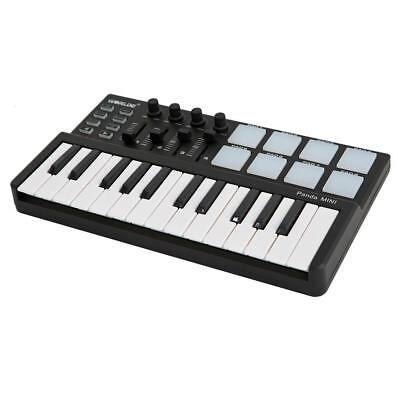 (Midi Controller Portable 25 Key Usb Keyboard And Drum Pad Mini Set Professional)