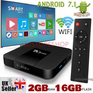 2018 TX3 Mini 2GB+16GB Android 7.1 Quad Core TV Box 17 HD Media Player WIFI UK