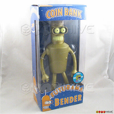 Futurama Golden Bender SDCC 2007 exclusive vinyl coin bank Limited 240 by Funko