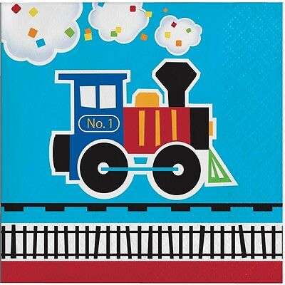 thday Party Supplies Small Napkins (Train Birthday Party Supplies)