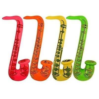 4 Sassofono Gonfiabile Rock & Roll Musica Discoteca Festa Giocattolo