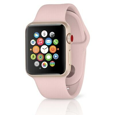 Apple Watch Series 3 GPS+LTE w/ 38MM Gold Aluminum Case & Pink Sand Band