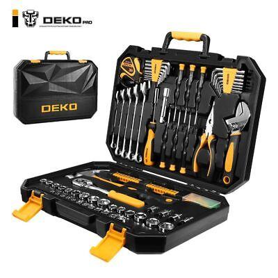DEKOPRO 128 Pieces Tool Set General Household Hand Tool Kit Auto Repair Tool (General Tool Kit)