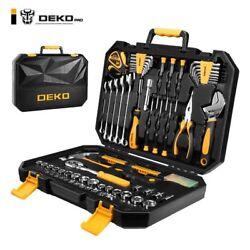 DEKOPRO 128 Pieces Tool Set General Household Hand Tool Kit Auto Repair Tool Set
