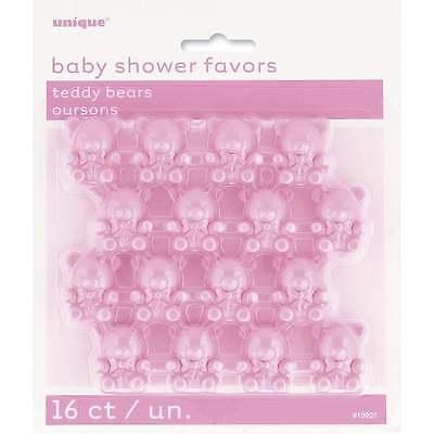 Unique Party UK Einzigartige Babyparty Geschenke (Rosa Teddybären Pack 16