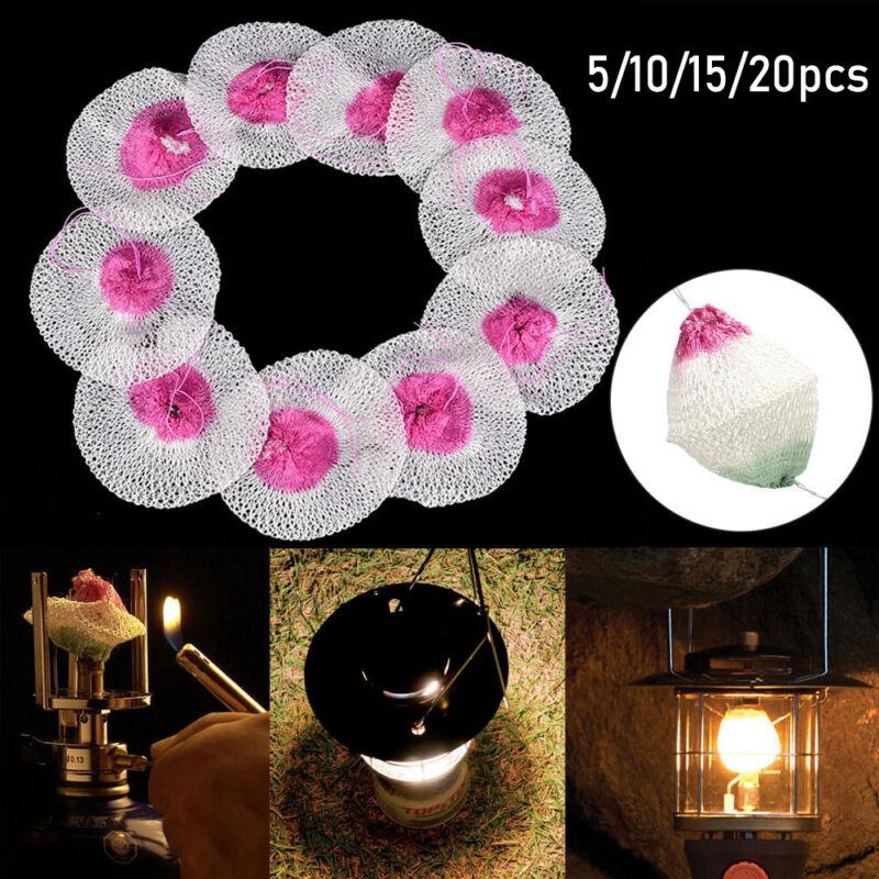 20 X Mesh Camping Lantern Mantles Lamp Mantle Paraffin Lamp Gas Lamp Cover