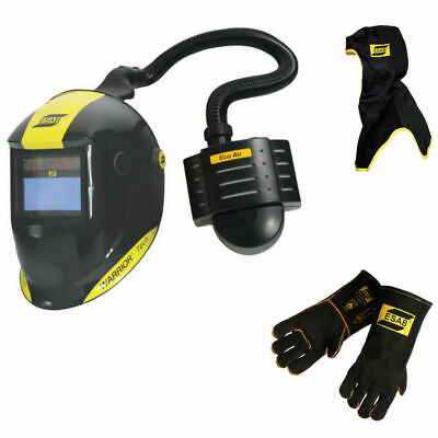 Esab Warrior Tech Welding Helmet With Eco Air Papr Unit Free Hood Gloves