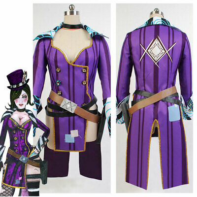 Borderlands COSplay Costume Mad Moxxi Attire Dress Hat+Belt Suit Outfit Full Set - Mad Hat Costume