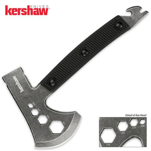 "Kershaw Tinder Axe 3.3"" 3Cr13 Steel Blade Nylon Handle Black Hunting Hiking Camp"