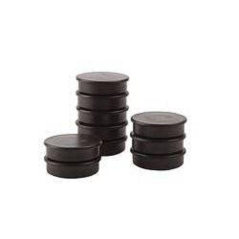 50 x Magnete, Schwarz ɸ 24mm, Haftmagnete für Whiteboard, Kühlschrankmagnet