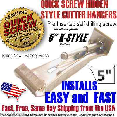 "5"" inch K Style Gutter Hanger Bracket with pre inserted self"