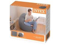 "Intex - Beanless Bean Bag Chair 42"" x 41"" x 27"" + Electric Air Pump"
