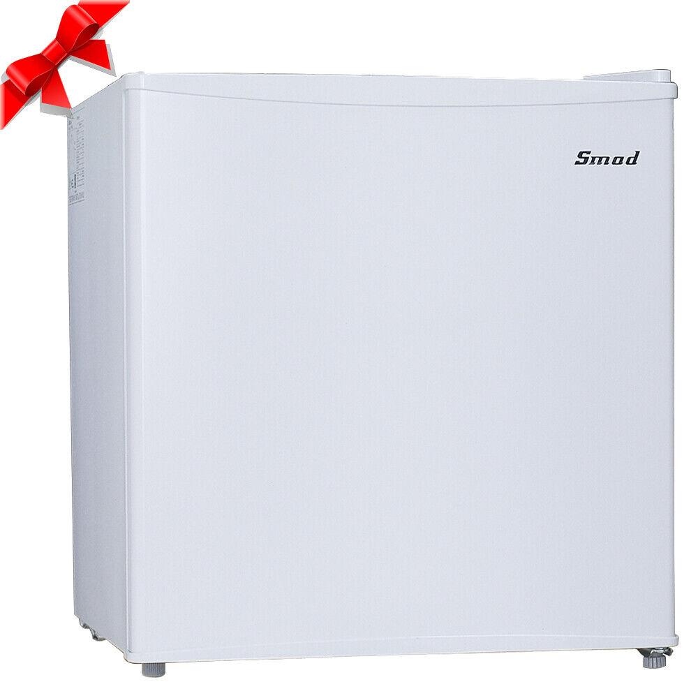 Smad 1.7 Cu Ft Mini Fridge Freezer Single Door Compact White Small Refrigerator