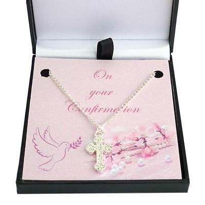 Konfirmation Halskette für Mädchen mit Kreuzanhänger, Geschenk für Tag (Kreuz Halskette Für Mädchen)