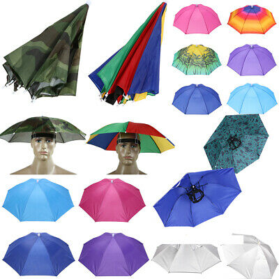 Unisex Sonnenschirm Regenschirm Hut Sport Stirnband Kopfbedeckung Anglerhut Hüte Stirnband Hut