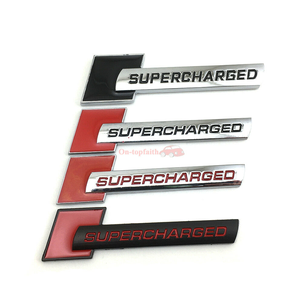 Thick Metal Red Super Turbo Charger SUPERCHARGED Emblem Badge Sticker For Audi