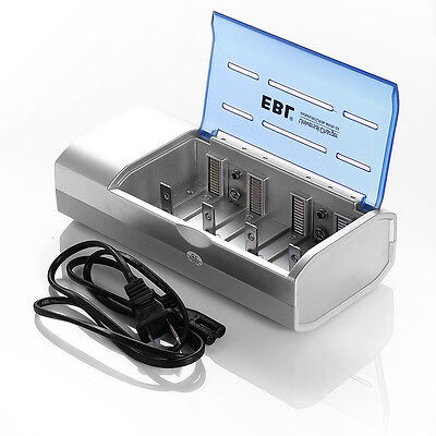 EBL Battery Charger For C D Size AA AAA 9V Ni-MH Ni-CD Rechargeable Batteries on Rummage