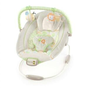 NEW Ingenuity Cradling Bouncer-Sunny Snuggles, Ivory/Green Condtion: New