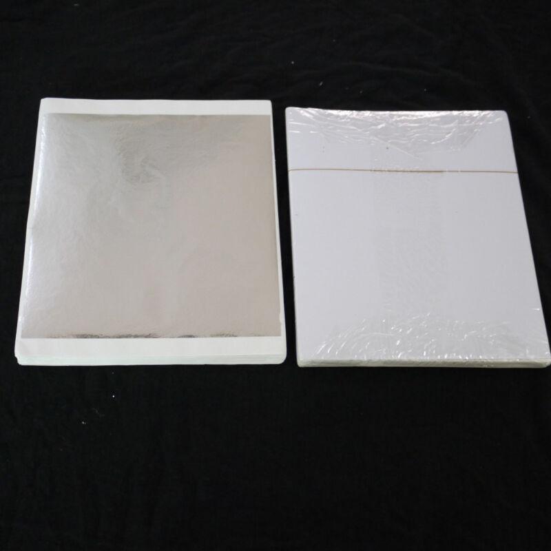 "Imitation Silver Leaf 5-1/2""x5-1/2"" (140mm X 140mm) - 500 Sheets"