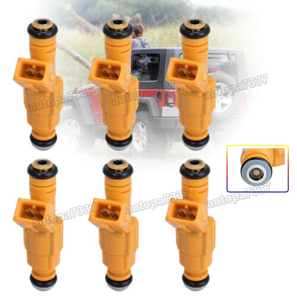 6X Bosch Fuel Injectors For 87-98 JEEP Wrangler 4.0L OEM 0280155700 EV1 4 hole