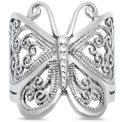 - Filigree Butterfly .925 Sterling Silver Ring Sizes 4-13