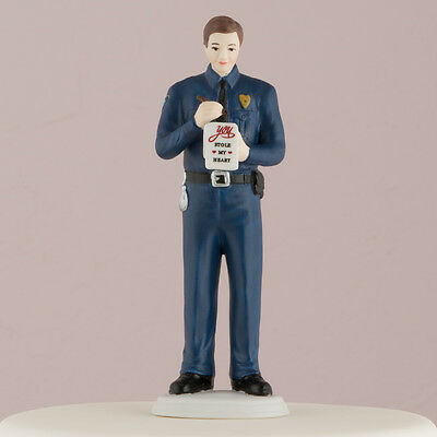 Love Citation Policeman Police Officer Cop Wedding Cake Topper CUSTOMIZATION](Police Cake Topper)