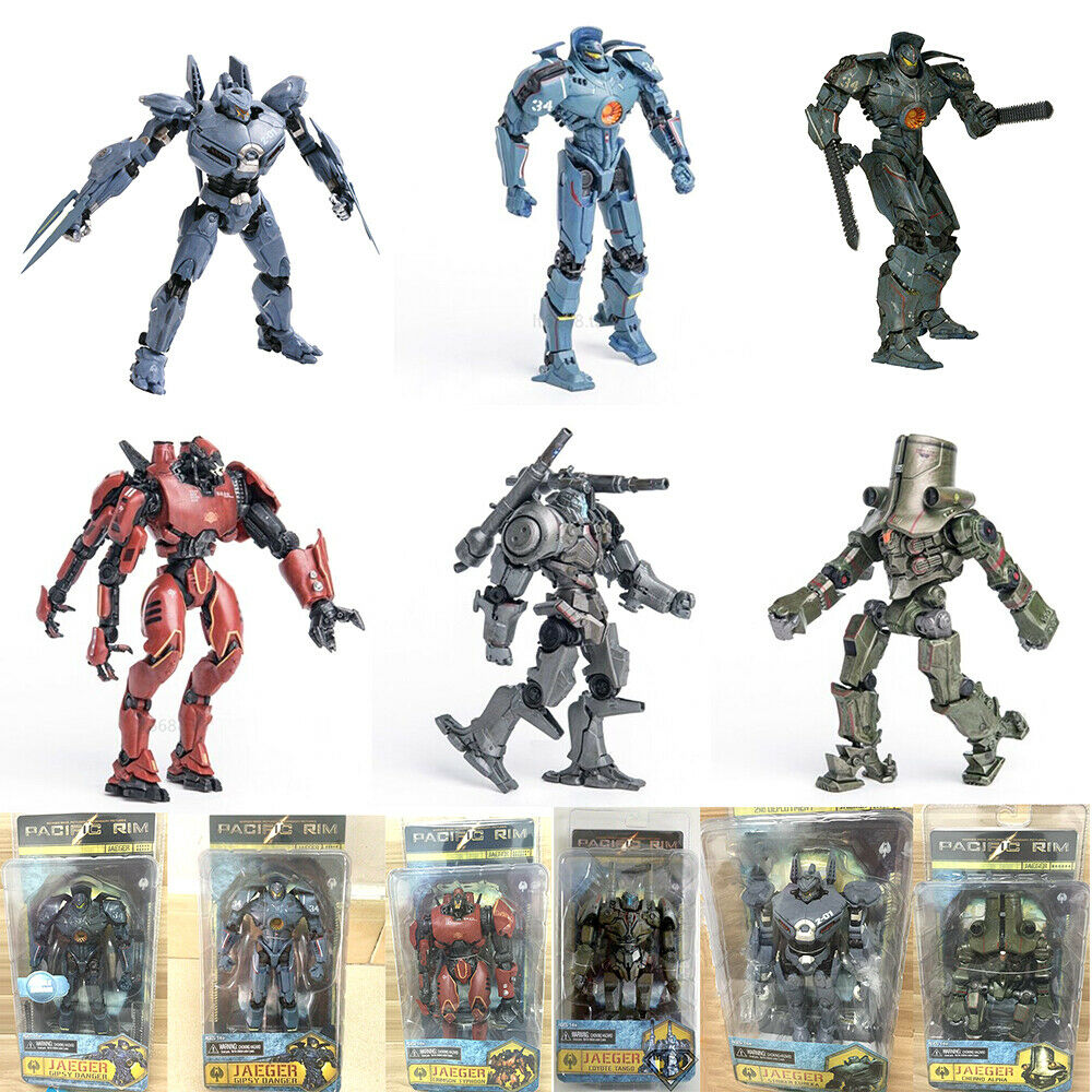 7″ inch Scale Pacific Rim Jaeger Action Figure Toys Gift Set New Box Package US Action Figures