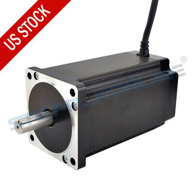 Nema 34 Stepper Motor 12nm 6a 14mm Keyway Shaft 4 Wires For Cnc Milling Machine