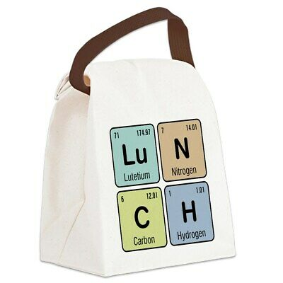 chemistry lunch canvas lunch bag with strap